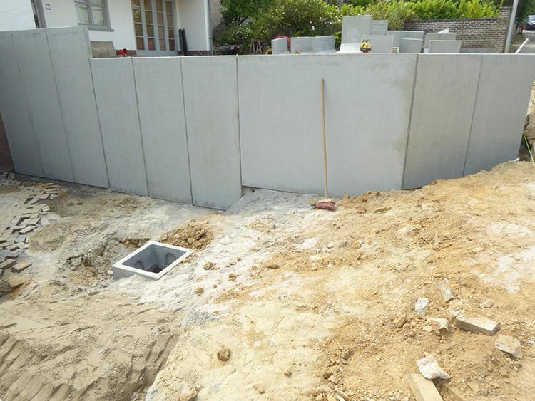Transformation des abords d 39 une habitation braine l 39 alleud for Mur descente de garage